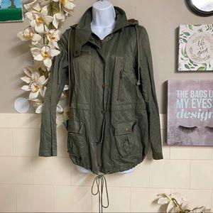 Joie Hooded Windbreaker Anorak Jacket Size S